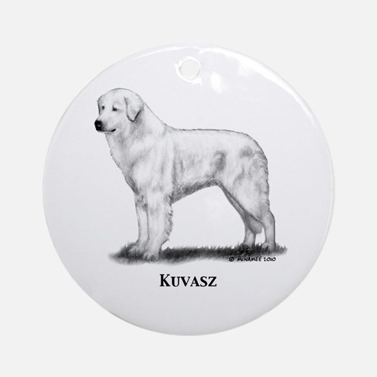 Kuvasz Ornament (Round)