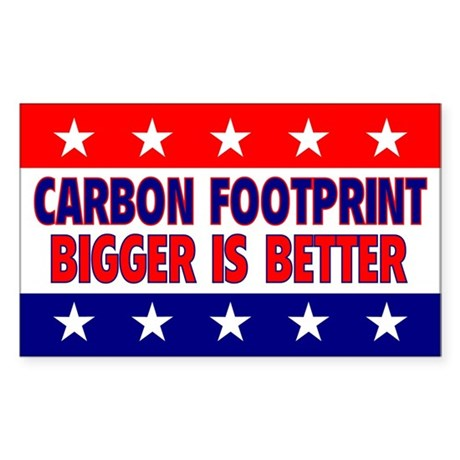 Carbon Footprint Rectangle Sticker