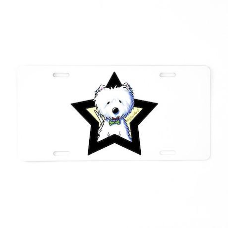 Westie Star Aluminum License Plate