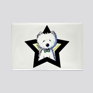 Westie Star Rectangle Magnet