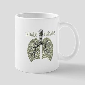 Anatomy of Breath in Green Mug