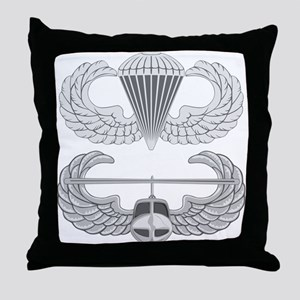 Airborne and Air Assault Throw Pillow