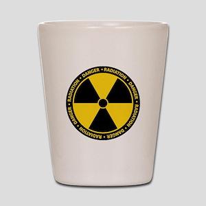 Radiation Warning Shot Glass