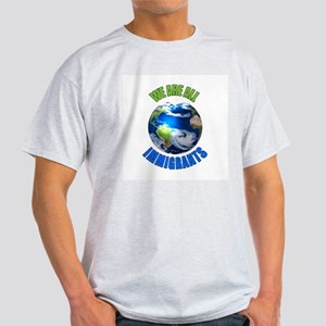 We Are All Immigrants Ash Grey T-Shirt