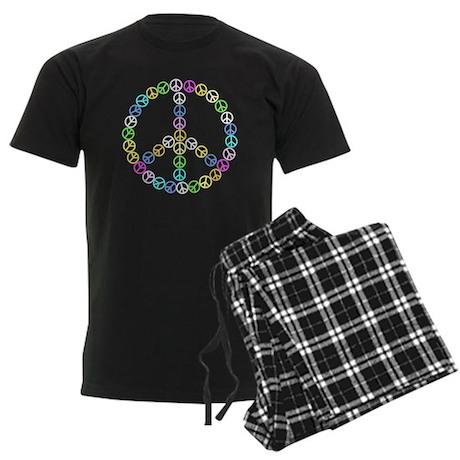 Peace Signs Men's Dark Pajamas