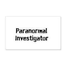 Paranormal Investigator 22x14 Wall Peel