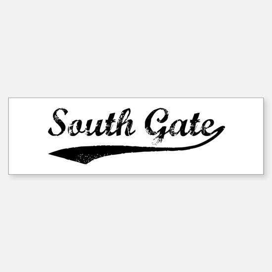 Vintage South Gate Bumper Bumper Bumper Sticker