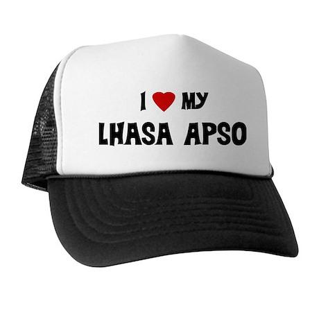 I Love My Lhasa Apso Trucker Hat