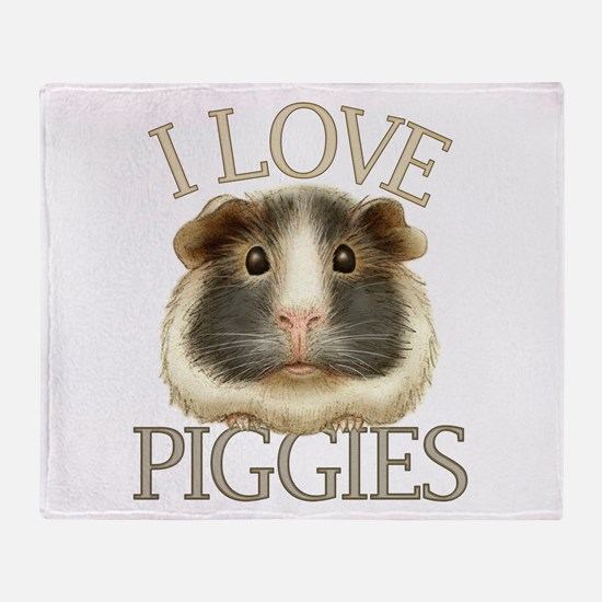 I Love Piggies Throw Blanket