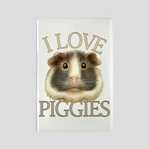 I Love Piggies Rectangle Magnet