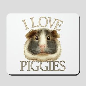 I Love Piggies Mousepad