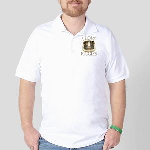 I Love Piggies Golf Shirt