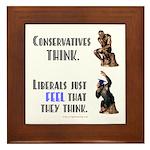 Conservatives vs Liberals Framed Tile