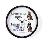 Conservatives vs Liberals Wall Clock