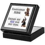 Conservatives vs Liberals Keepsake Box
