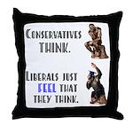 Conservatives vs Liberals Throw Pillow