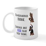 Conservatives vs Liberals Mug
