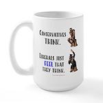Conservatives vs Liberals Large Mug