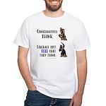 Conservatives vs Liberals White T-Shirt