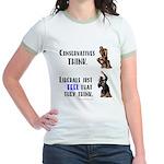 Conservatives vs Liberals Jr. Ringer T-Shirt