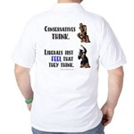 Conservatives vs Liberals Golf Shirt
