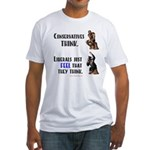Conservatives vs Liberals Fitted T-Shirt