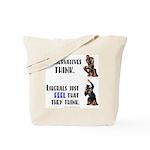 Conservatives vs Liberals Tote Bag