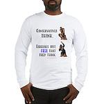 Conservatives vs Liberals Long Sleeve T-Shirt