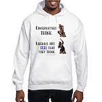 Conservatives vs Liberals Hooded Sweatshirt