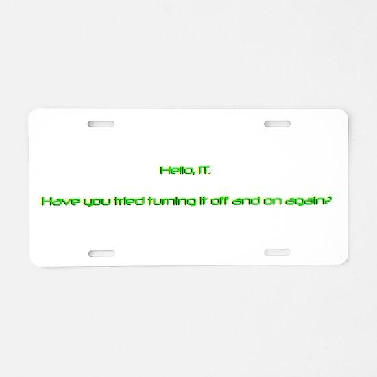 Unique Pc mac Aluminum License Plate