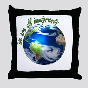 Humanist Approach to Immigration Throw Pillow