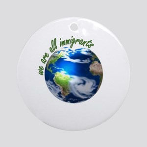 Humanist Approach to Immigration Ornament (Round)