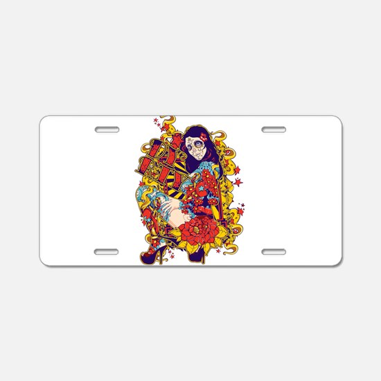 Tattooed Dirty Girl Aluminum License Plate