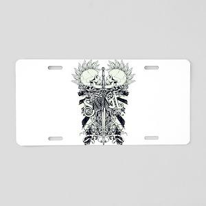 Savage Skulls and Sword Aluminum License Plate