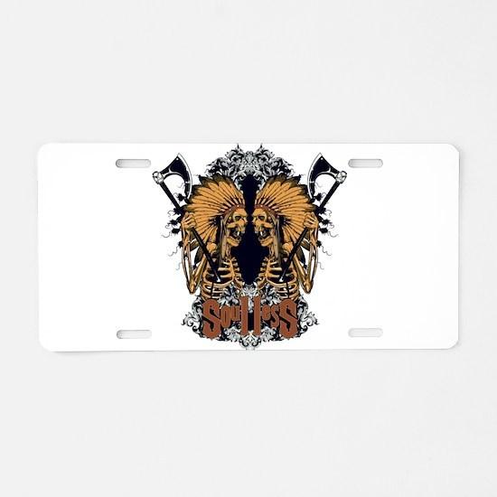 Soulless Braves Aluminum License Plate