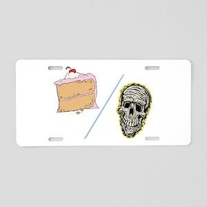 Cake or Death Aluminum License Plate