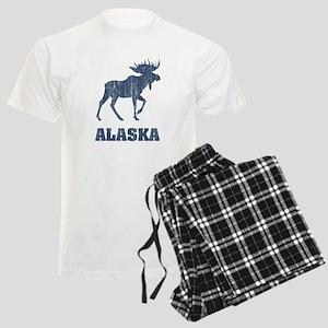 Retro Alaska Moose Men's Light Pajamas