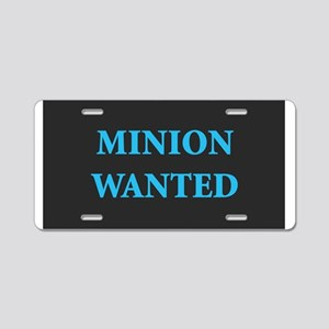 Minion Wanted Aluminum License Plate