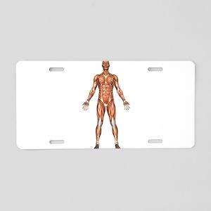 Visible Man Aluminum License Plate