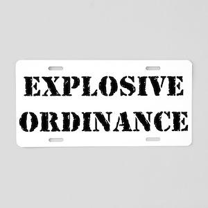 Explosive Ordinance Aluminum License Plate