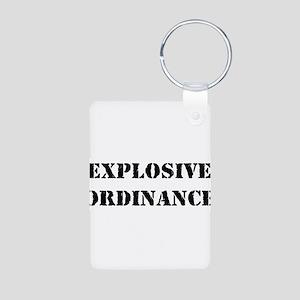 Explosive Ordinance Aluminum Photo Keychain