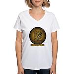 Womens Vneck Tee T-Shirt