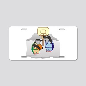 Penguin Basketball Aluminum License Plate