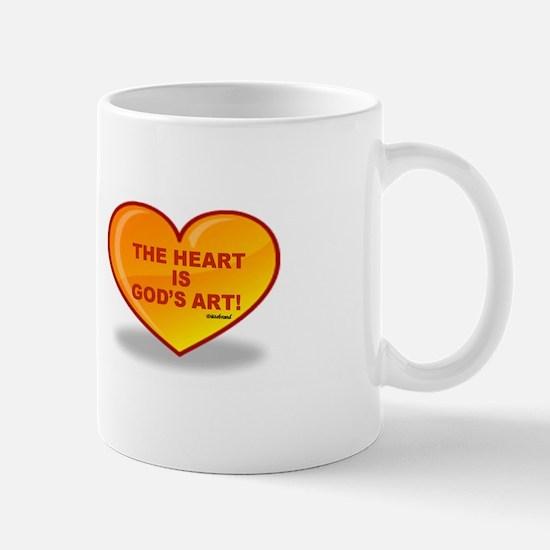 The Heart Is God's Art Mug