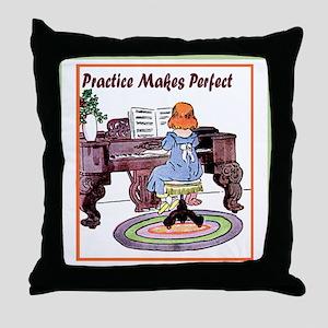 Practice Makes Perfect Throw Pillow