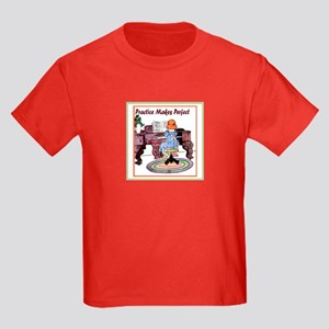 Practice Makes Perfect Kids Dark T-Shirt