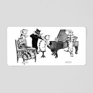 Cat Music Aluminum License Plate