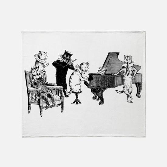 Cat Music Throw Blanket