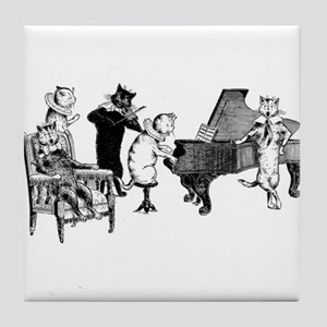 Cat Music Tile Coaster