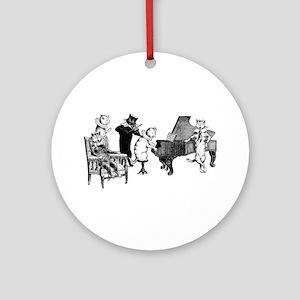 Cat Music Ornament (Round)